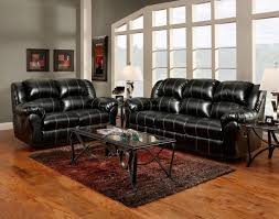 Black Leather Reclining Sofa And Loveseat Taos Black Bonded Leather Reclining Sofa U0026 Loveseat Set 1000