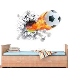 football through wall stickers kids room decoration home decals