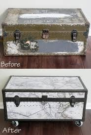 Decorative Trunks For Coffee Tables Best 25 Trunk Makeover Ideas On Pinterest Trunks Trunk Redo