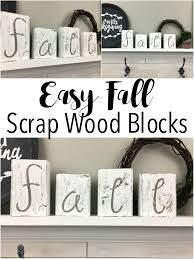 easy fall wood blocks made from scrap wood wood projects scrap