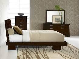 zen bedroom set hiro platform bed in warm ebony haiku designs