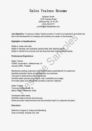 Sample Resume Sample Programmer Trainee Resume Sample Resume Samples Resame
