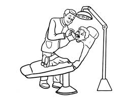 Dentist And Little Boy Coloring Pages Bulk Color Boy Color Pages
