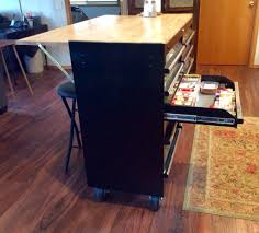 Kitchen Island by Tool Box Made Into A Kitchen Island With Side Bar For Sitting