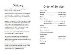 funeral obituary templates how to write a funeral program obituary template sle