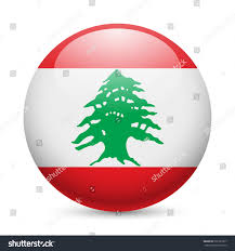 What Tree Is On The Lebanese Flag Flag Lebanese Republic Round Glossy Icon Stock Vector 202122877