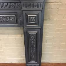 antique cast iron fireplace surround decorative collective