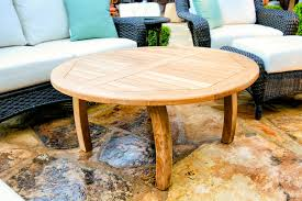 Round Trays For Coffee Tables - coffee table tortuga lo res outdoor round coffee table teak of