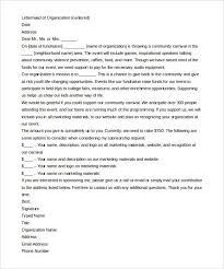 corporate sponsorship letter sample sports sponsorship letter 6