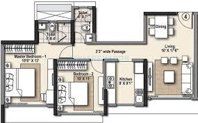 2 bhk 995 sq ft apartment for sale in raheja ridgewood at rs