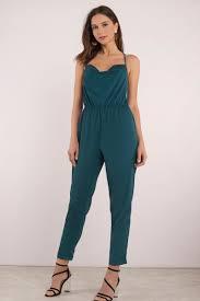 teal jumpsuit trendy emerald jumpsuit cross back green jumpsuit 27 tobi us