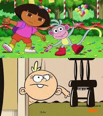 Dora The Explorer Meme - lily loud hates dora explorer blank meme by alexeigribanov on