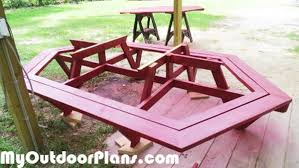 Picnic Table Plans Free Large by Chic Large Picnic Table How To Build A Picnic Table And 6 Benches