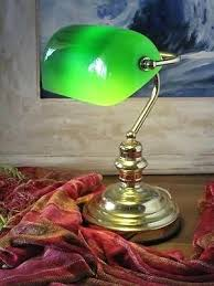 green glass shade bankers l desk antique desk l green glass shade vintage solid brass
