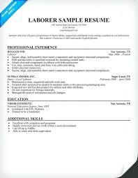 personnel specialist sample resume park maintenance worker resume laborer sample samples construction
