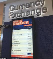bureau de change commission pounds slide continues as city airport now shows 1 1 exchange rate