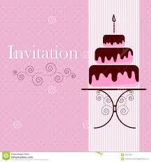 E Card Invitation Invitation Card With Cake Royalty Free Stock Photo Image 23437805