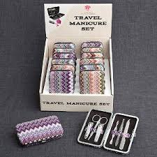 chevron design travel manicure set favor kits its a wrap