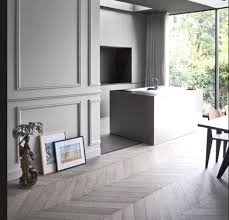 panelled walls herringbone floors and timber panelled walls to die for