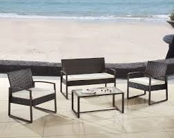 Modern Wooden Patio Furniture Madison Home Usa Modern Outdoor Patio 4 Piece Seating Group With
