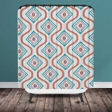 Mint And Coral Home Decor by Shower Curtain