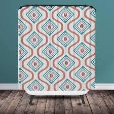 chevron ikat shower curtain