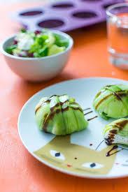recette avec de cuisine recette de dômes de concombre et fromage frais avec tupperware