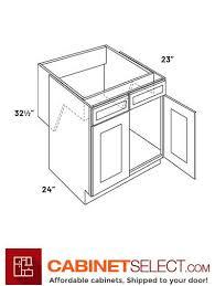 kitchen sink cabinet doors l10 sb36 hr luxor white 36 two door removable sink base cabinets ada