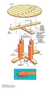 Plans For Wooden Picnic Tables by Best 25 Round Picnic Table Ideas On Pinterest Picnic Tables