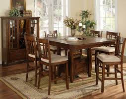 wood cotton cross blue solid oak bar height kitchen table and