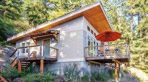small contemporary cabin on orcas island beautiful small house