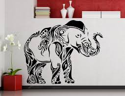 Elephant Room Decor Online Shop Happy Walking Elephant Wall Stickers Whole Tribal