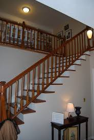 Staining Banister New Bannister Handrail Paint It White Or Stained To Match The Treads