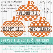 free pumpkin svg pumpkin svg file set of 8 cutting files includes svg png jpg