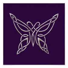 celtic knot butterfly silver purple celtic butterfly curling