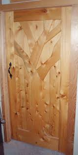 yellow cedar door with forged handle artwood gallery