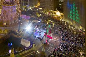 Indianapolis Circle Of Lights Downtown Indy Monument Circle