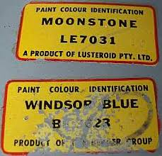 hillman car club of south australia u2013 paint codes for rootes cars
