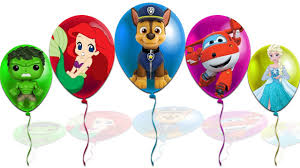 Super Colorful Colorful Balloons Elsa Super Wings Jett Elsa Mermaid Paw Patrol