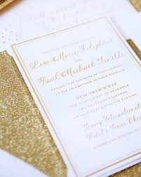 new years wedding invitations paul s gold new year s wedding invitations