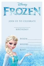 Printable Party Invitation Cards Free Printable Frozen Invitations Theruntime Com