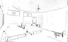 pencil sketch art master bedroom concept design visual by lorraine