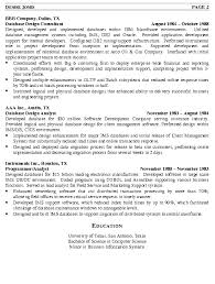 Resumes Com Samples by Database Administrator Resume Example