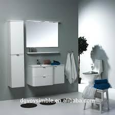 curved vanity unit bathroom wall hung double basin vanity unit
