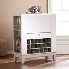 Furniture Wine Bar Cabinet Blvd Martindell Mirrored Fold Out Wine Bar Cabinet Free