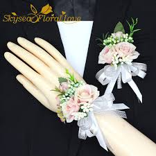 pink corsages for prom online shop free shipping 2017 new white pink party corsages prom