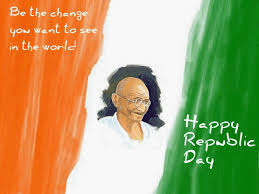 quote gandhi change world be the change you want to see in the world happy republic day