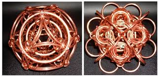 copper ornaments by rescyou chainmail sculpture theringlord forum