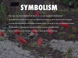symbolism of a tree the scarlet ibis by manasa m