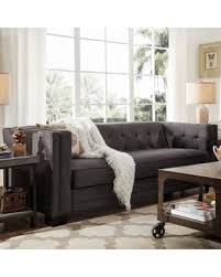 Grey Linen Sofa by Red Summer Savings On Hamilton Modern Linen Sofa With Button